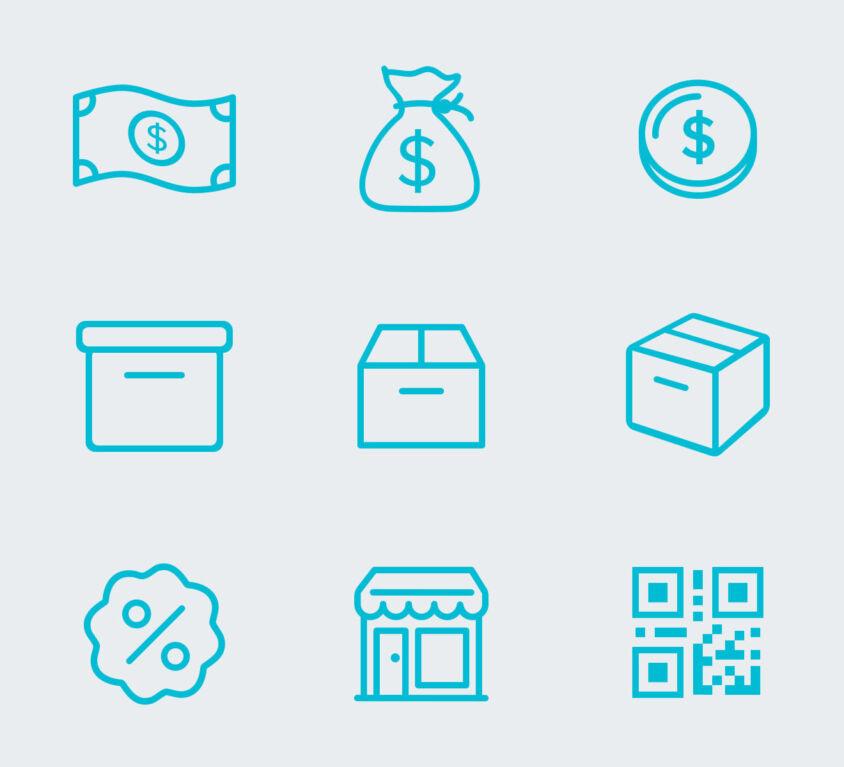 54 E-Commerce Icons (Demo)